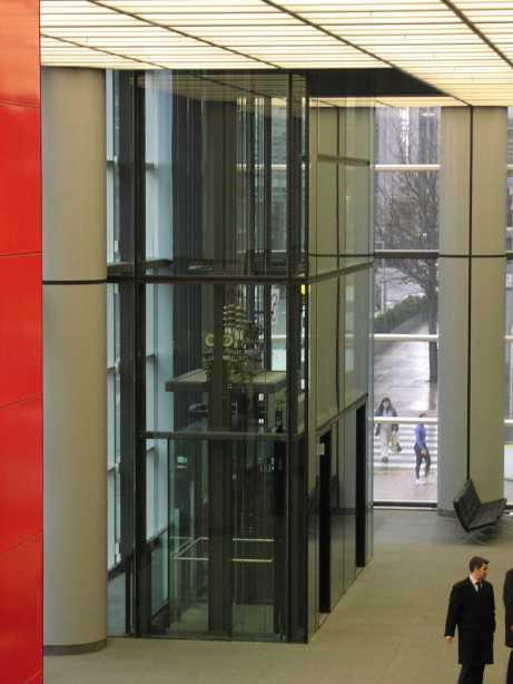 HSBC gf lobby scenic lift from restaurant