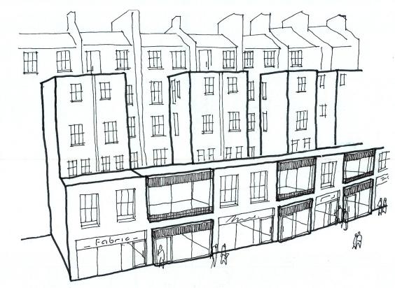 MR concept sketch Qway retail high