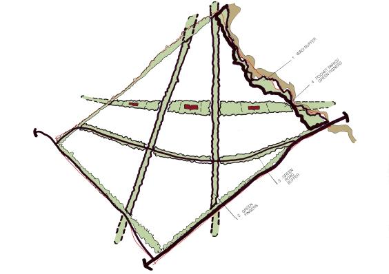 513 SAS Option 3 - Green Space Diagram