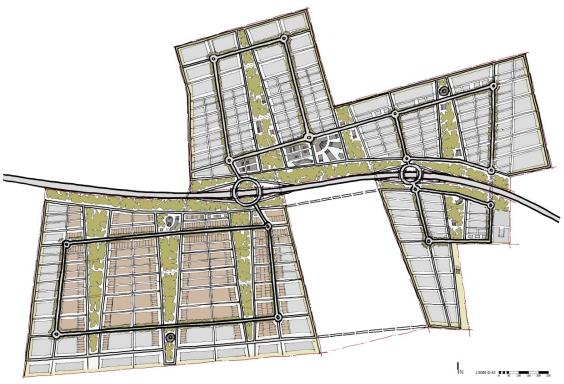 WER masterplan sketch extract